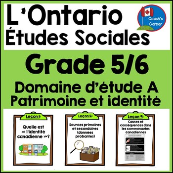 Ontario Grade 5/6 Social Studies (FRENCH):  Strand A Heritage and Identity