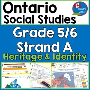 Ontario Grade 5/6 Social Studies:  Strand A Heritage and Identity FULL UNIT