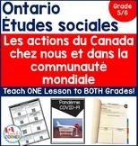 Ontario Grade 5/6 Split Grade Social Studies: Les actions du Canada