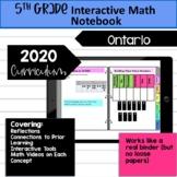 Ontario Grade 5 Interactive Math Notebook