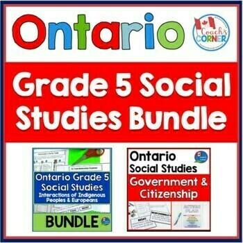 Ontario Grade 5 Science & Social Studies Super-Bundle