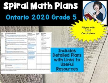 Ontario Grade 5 Spiral Based Math Long Range Plans