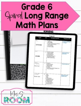 Ontario Grade 6 Entire Year of Spiral Math Expectations and Units