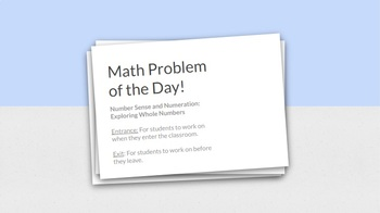 Math Bell Ringer - Whole Numbers (Grade 6)