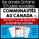 Ontario Grade 6 Social Studies: Communities in Canada Part 4 - FRENCH Version