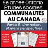 Ontario Grade 6 Social Studies: Communities in Canada Part 5 - FRENCH Version