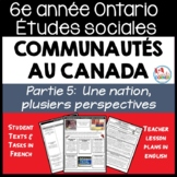 Ontario Grade 6 Social Studies: Communities in Canada Part 5 - FRENCH Version