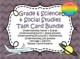 Ontario Grade 6 Social Studies and Science Task Card Bundle