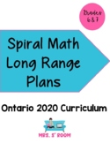 Ontario Grade 6 and 7 Entire Year of Math Long Range Plans