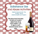Ontario Grade 7 8 Health Substance Use and Abuse Activitie