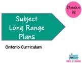 Ontario Grade 7/8  Long Range Plans (EVERYTHING BUT MATH)