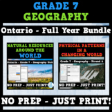 Ontario - Grade 7 - Social Studies - Geography - FULL YEAR BUNDLE