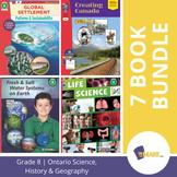 Ontario Grade 8 Science, History & Geography Curriculum 7 Book Bundle!