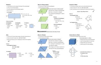 Grade 6 Math (Ontario - Measurement)
