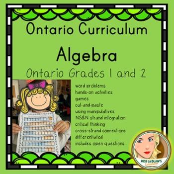 Ontario Grades 1 and 2 Algebra (Mathematics) Resource - Primary