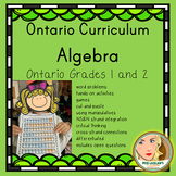 Ontario Grades 1 and 2 Algebra (Mathematics) Resource - Primary