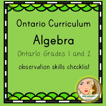 Ontario Grades 1 and 2 Algebra - Observation Skills Checklist