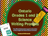 Ontario Grades 1 and 2 Science Writing Prompts - Different