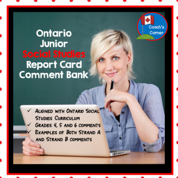 Ontario Junior Social Studies Report Card Comments