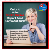 Report Card Comments for Ontario Junior Social Studies