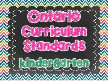 Ontario Kindergarten Catholic Religion Standards created for Jean