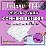 Ontario Kindergarten Communication of Learning Comment Builder