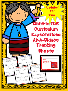 NEW Ontario Kindergarten Expectations (FDK)- Focused At A