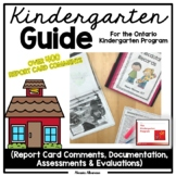 Ontario Kindergarten Guide -> Report Card Comments/Assessment/Documentation
