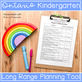 Ontario Kindergarten Program Math Expectation Planner