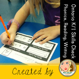 Ontario Kindergarten and Grade 1 Skills Check: Phonics, Re
