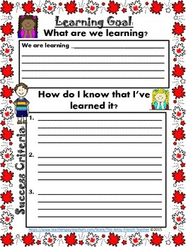 Ontario Learning Goal Poster