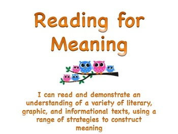 Learning Goals - Ontario Gr 3 Reading