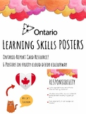 Ontario Learning Skills Posters - Canadian - Ontario Report Cards - Pink Clouds