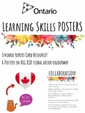 Ontario Learning Skills Posters - Ontario Report Cards - BIG KIDS Floral Banner