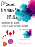 Ontario Learning Skills Posters - Ontario Report Cards - BIG KIDS Galaxy