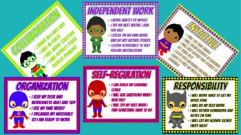 Ontario Learning Skills Posters - Superhero Theme