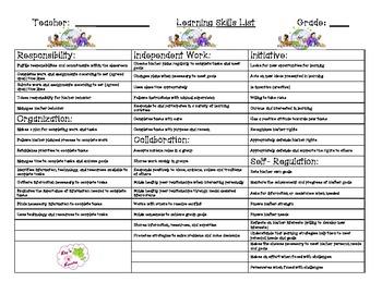 Ontario Learning Skills Report Organizers Full Set