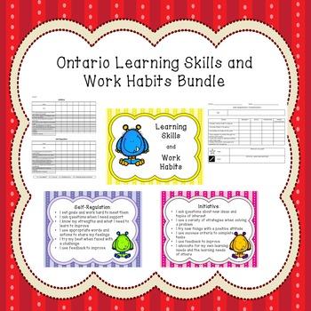Ontario Learning Skills & Work Habits Bundle