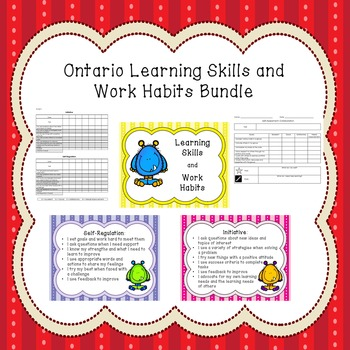 Ontario Learning Skills & Work Habits Bundle