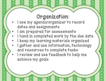 Ontario Learning Skills and Work Habits Bundle
