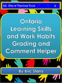 Ontario Learning Skills and Work Habits Grading and Comment Helper