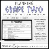 Ontario Long Range Plans - Grade 2 - FULL YEAR - DIGITAL +