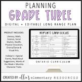 Ontario Long Range Plans - Grade 3 - FULL YEAR - DIGITAL +