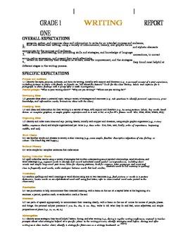 Ontario Long Range Plans - Grade One