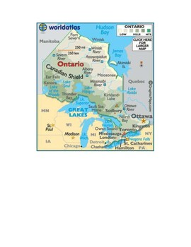 Ontario Map Scavenger Hunt
