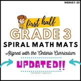 Ontario Math Curriculum, Spiral Math Mats, WEEKS 1-20