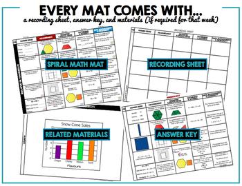 Ontario Math Curriculum   Spiral Math Mats   Full Year Pack