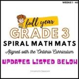 Ontario Math Curriculum | Spiral Math Mats | Grade 3 GROWI