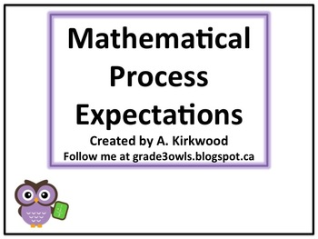 Learning Goals - Ontario Grade 3 Mathematical Process