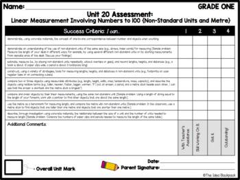 Ontario Mathematics Curriculum Tracking & Check-Brics for 25 Mini-Units - Gr 1